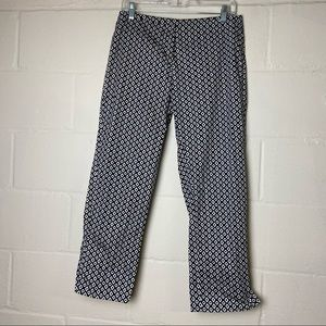 cabi diamond print crop dress pants size 4